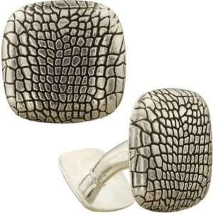 Серебряные запонки «Крокодил»