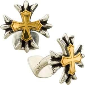 Серебряные запонки «CHROME HEARTS»